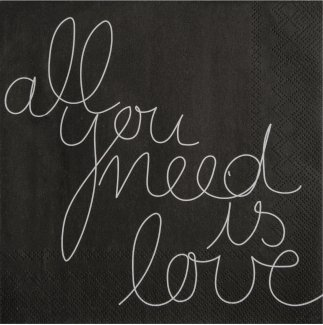Räder DINING Serviette 33x33cm All you need is love