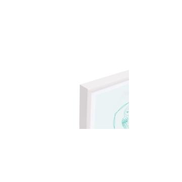Eulenschnitt Bilderrahmen Weiß A3