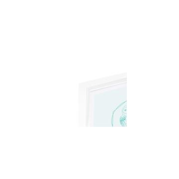 Eulenschnitt Bilderrahmen Weiß A6