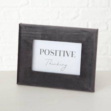 """Karten Bilderrahmen grau samt """"Positive..."""