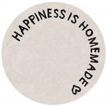 """Eulenschnitt Teppich """"Happiness is homemade""""..."""