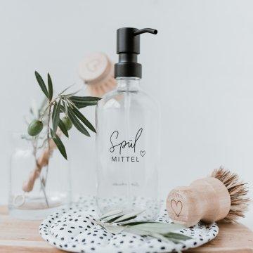 Eulenschnitt Glas-Spülmittel-Spender 500 ml...