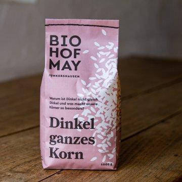 Biohof May Bio-Dinkel ganzes Korn 1 kg