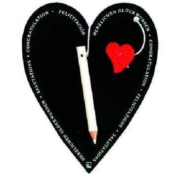 Räder Glückwunschkarte Herz Tafel...