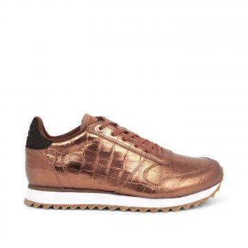 Woden Sneaker Ydun Croco Shiny burnished copper kupfer...