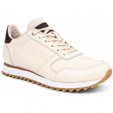 Woden Sneaker Ydun Croco Shiny Whisper White creme