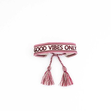 Ella Agency Armband Canvas Boho GOOD VIBES ONLY...