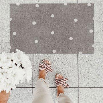 Eulenschnitt Fußmatte 45x75 cm weiße Punkte...
