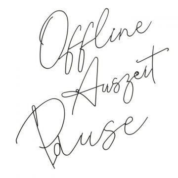 Wandobjekt Offline - Auszeit - Pause H.30 cm B.55 cm,...