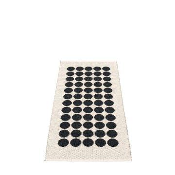 Pappelina Outdoor Teppich Fia Black schwarz, 70 x 100 cm