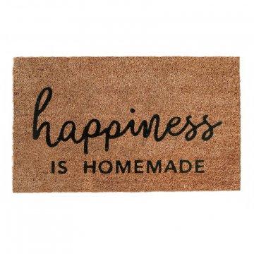"""Eulenschnitt Kokos Fußmatte """"Happiness is..."""
