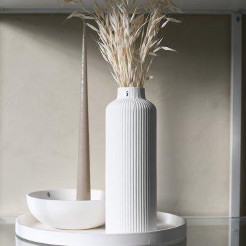 Storefactory ADALA Keramikvase H. 23 cm, weiß