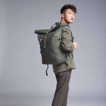 GOT BAG Rolltop Backpack Rucksack, Algae dunkelgrün