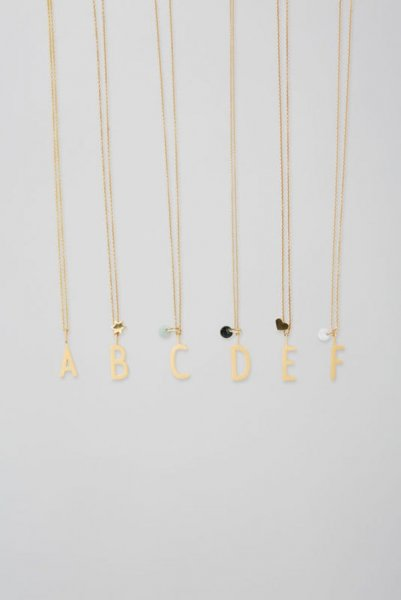 Design Letters Archetyp Anhänger 16mm, gold, O