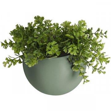 Present Time Wand-Blumentopf Globe, grün