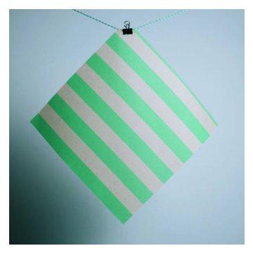 Gaia Bienenwachstuch 2er Set (M/L) grün gestreift