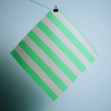 Gaia Bienenwachstuch 3er Set (S/M/L) grün gestreift