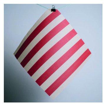 Gaia Bienenwachstuch 3er Set (M/L/XL) rot gestreift