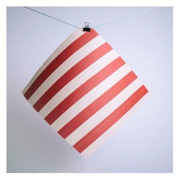 Gaia Bienenwachstuch 3er Set (S/M/L) rot gestreift