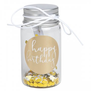 """Räder GIVING kleines Geschenkglas """"Happy..."""
