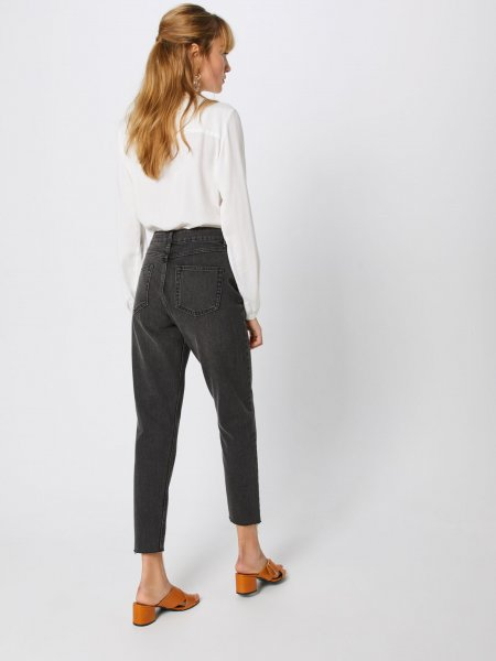 Moss Copenhagen Crystal Mom Jeans, Grey wash