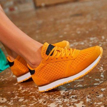 Woden Ydun Suede Mesh II Sneaker, Autumn Blaze Gelb